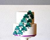 EDIBLE Shamrocks - Large St Patrick's Day Cake & Cupcake Decorations - Cake topper - Four Leaf Clover