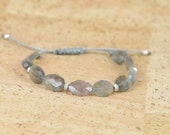 SALE-Labradorite and silver  bracelet