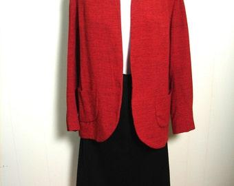 Vintage 30s 40s Swing Jacket - 1940s  Burnt Orange Fleck Jacket M L - on sale