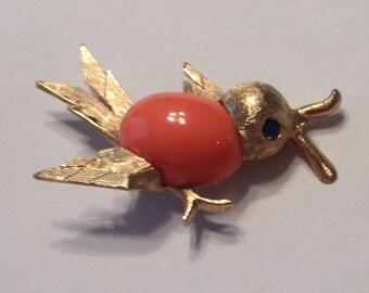 Napier Bird Brooch Worm
