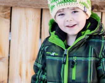 Shell Shock Beanie - Kids Custom Crochet Hat