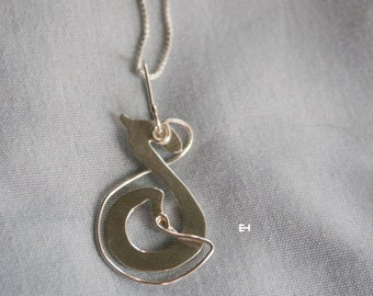 Sterling Silver Small Celtic Dragon with Necklace
