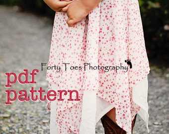 Instant Download - PDF Be There or Be Square Handkerchief Skirt Pattern for Babies, Toddlers, Girls Sizes 6-9m through 12