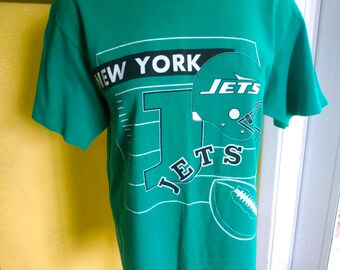 New York Jets NFL 1990s vintage t-shirt - green size large