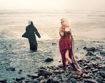 Custom Aries Goddess of War Dress | Flaming Red Goddess Dress | Greek Goddess Gown | Roman Goddess | Cosplay Costume | Dramatic Fairytale