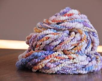 Handspun art yarn 'Shabby Chic Coziness'