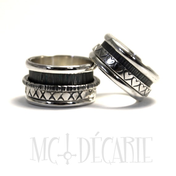his and hers spinner ring set wedding ring unisex spinner With spinner wedding ring sets