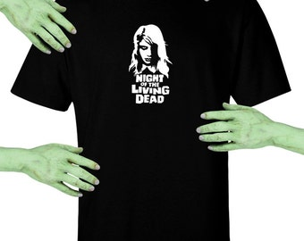 Voodoo Sugar Night Of The Living Dead Zombie Girl Men's / Unisex Black t-shirt Plus Sizes Available