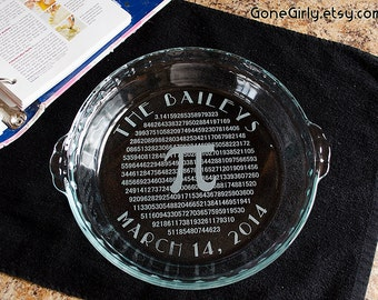 Personalized π Pi Please Pie Plate 3.14 - Any Customization Font or Text