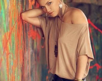 Off The Shoulder Women Shirt- White women shirt, Jersey women shirt, Summer women shirt with short sleeves