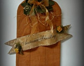 Pumpkin Door or Wall Hanging ~ Autumn Blessings ~ MADE TO ORDER