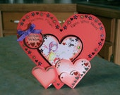 Coral Heart Shaped Birthday Card - Fairy Wishes for Girls