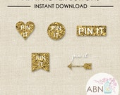 INSTANT DOWNLOAD - Social Media Icons - Pinterest Hover Buttons - By A Blissful Nest