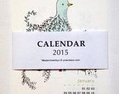 """SALE 15 % OFF Desk Calendar 2015 - wall calendar  -  4 x6 """""""