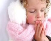White earmuffs, winter ear warmers, accessory, hat, ear flap, gift