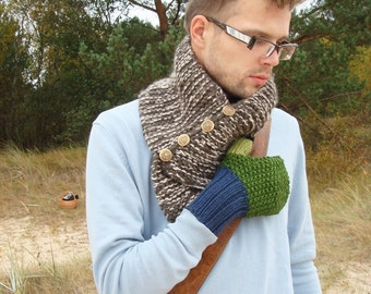 Green gloves, men accessory, fall fashion, mittens, gift