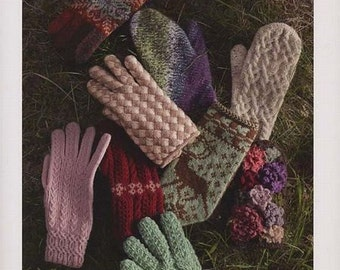 Hand Knit Mittens, Japanese Knitting Pattern Book for Knit Gloves, Winter Warm Outfit, Easy Hand Knitting Tutorial, Toshiyuki Shimada, B1306