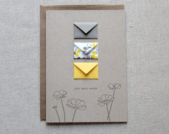 Get Well Soon - Tiny Envelopes Card