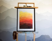 2015 Mountain Calendar (Red Sunset)