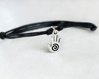 Spiral Hand Bracelet, Healing Hand Bracelet, Spiral Hand Anklet, Healing Hand Anklet (Many colors to choose)