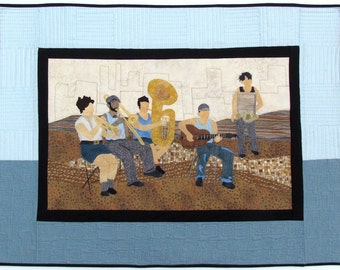 Blues Band Contemporary Art Quilt