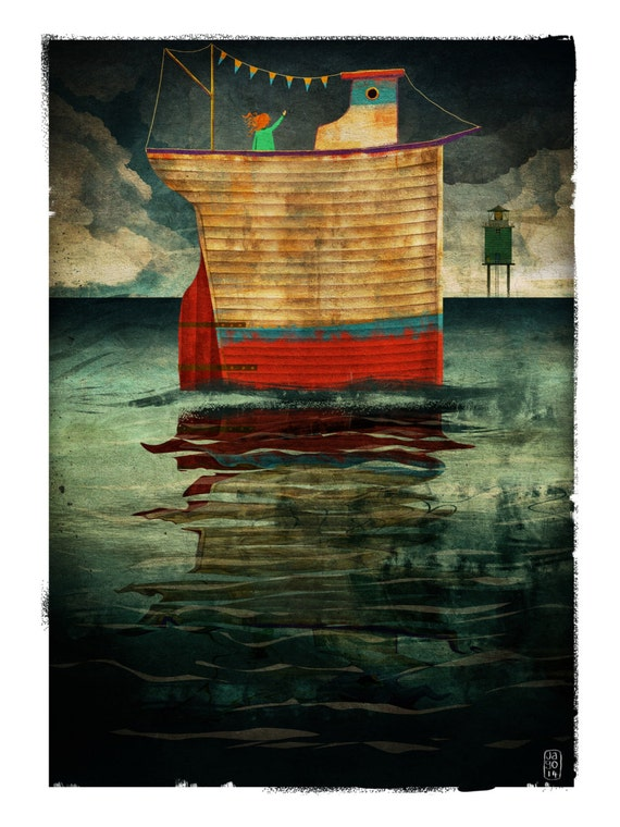 Coming Home - Signed Print from The Cruel and Curious Sea II exhibition