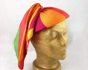 1960s Colorful Beret Hat - I Magnin and Co