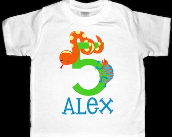 Personalized Snake and Reptile Shirt or Bodysuit - Personalized with ANY Name and Age