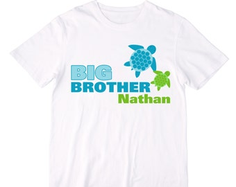 Sea Turtles Big Brother Shirt - Personalized with ANY name!