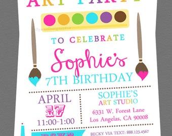 Art Party Invitation - Digital File