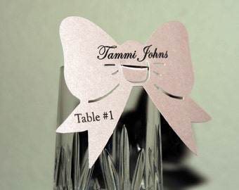 Personalized Bow Place Cards
