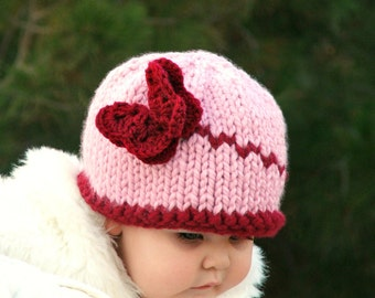 Knitting PATTERN-Baby Butterfly hat (Baby,Toddler,Child sizes)
