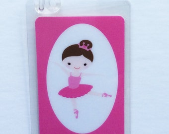 Ballet Bag Tag Ballet Party Favor Dance Bag Tag Dance Recital Gift Personalized Girls Dance Bag Tag Dance Teacher Gift Kids Bag Tag