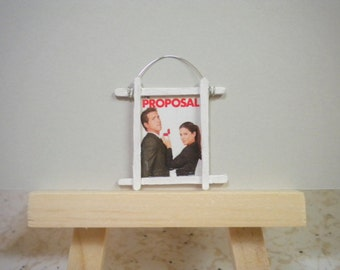 Miniature Movie Poster for Dollhouse or Mini Display The Proposal