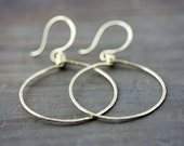 Front Facing Hoops, NuGold, Red Brass, 14k Gold Fill, Sterling Silver, Big Hoop Earrings