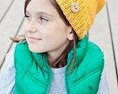 Knit Slouchy Beanie, Hip Toddler Beanie, Knit Hat, Slouchy Hat, Children's Knit Hat, Stylish Knit Hat