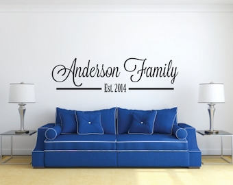Family's Last Name Vinyl Wall Decal - Family Name Vinyl Wall Decal - Family Decal - Last Name Vinyl Wall Decal