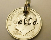 DIME Pendant: 10th Birthday Gift, 10th Anniversary Gift, 10 Year; Stamped 2007 2017+ Charm; Personalized Date-Name-Initials; BU UNCIRCULATED