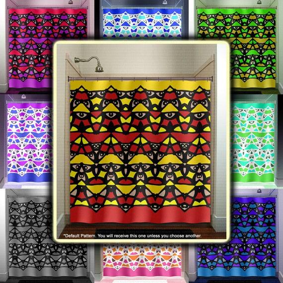 Pole tiki man native art shower curtain bathroom decor fabric kids