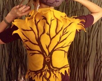 Custom Needle Felted Fae Vest