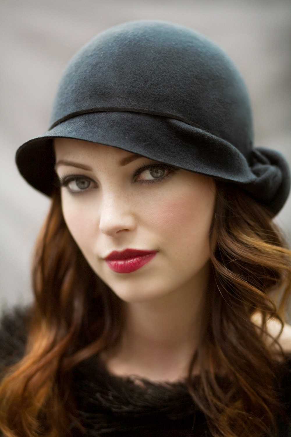 The Twist Cloche Hat Wool Felt Classic Hat by ...