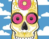 Homer Simpson Sugar Skull Print 11x14 print Doh!