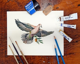 Peace Dove - Archival Quality print based on the original watercolor