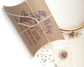 Forget Me Not Seeds. Unique Wedding Favors with Custom Stamp. Rustic Wedding Gift. Set of 30