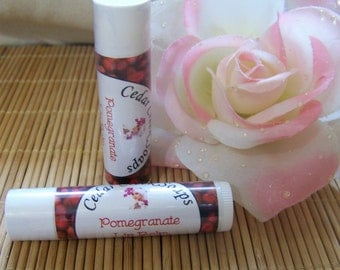 LIP BALM ~Pomegranate Lip Balm ~ Natural Lip Balms