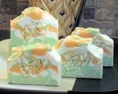 MAGNOLIA and ORANGE BLOSSOM Handmade Cold Process Soap with Jojoba, Hemp, Argan, Wheatgerm,  Shea, Cocoa and Mango Butters