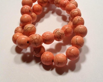 Pale Pink - Howlite Beads - 10mm - 20 beads