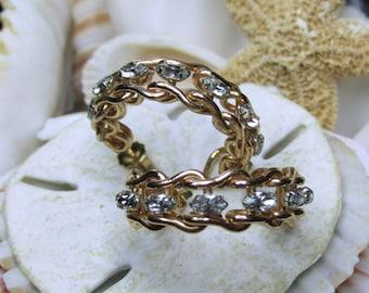 14k Gold Filled Krementz Horse Bit Western Hoop Earrings