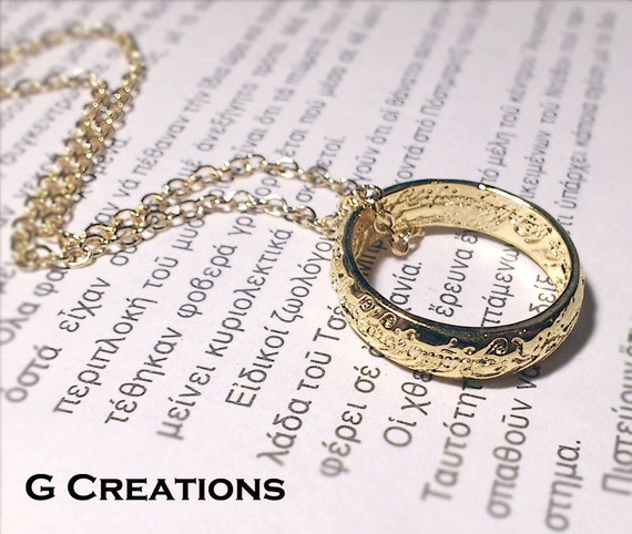 lotr lord of the rings ring necklace the by