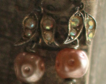 Dew Drops - assemblage earrings